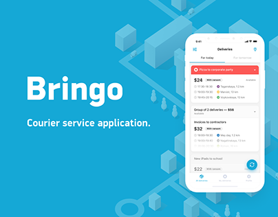 Bringo - Courier app UI/UX app/Landing Page