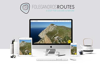 Folegandros Routes - Crοwfounding Campaign Website