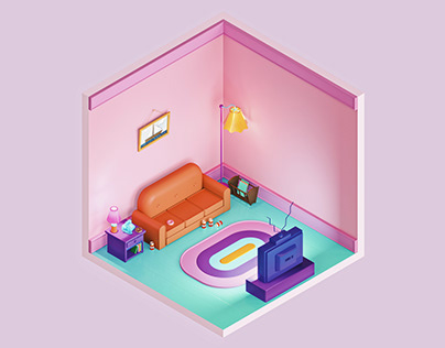 The Simpsons Living Room — The Rooms Project