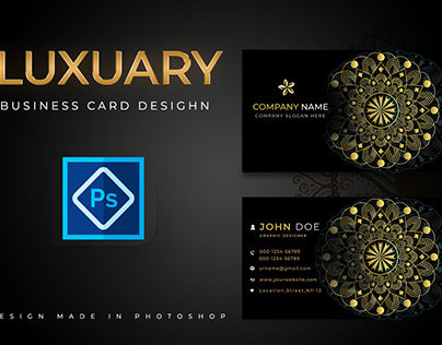 LUXUARY BUSINESS CARD DESIGN