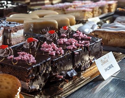 Helados y pasteles
