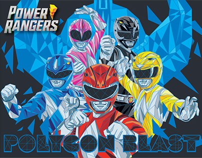 Power Rangers Trend Style Guide: Polygon Blast