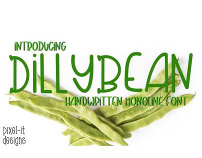DillyBean Font
