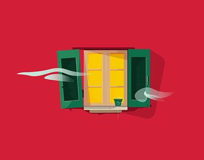 Green Window illustration