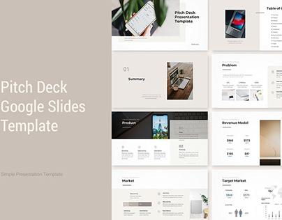 Pitch Deck Google Presentation