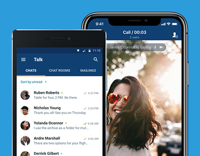 Business messenger on Android and iOS