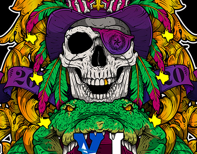 SHIPROCKED 2020 NOLA & TEXAS Design - Adobe Illustrator