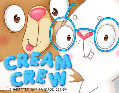 Cream crew ice cream (character and package design)