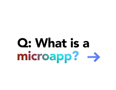 What is a microapp microapp