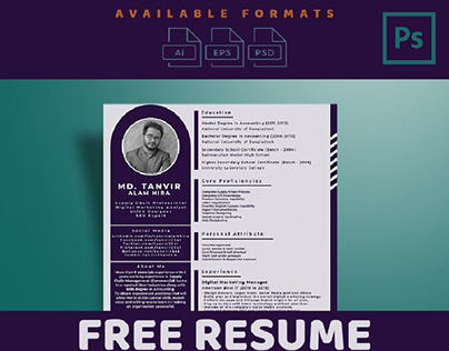 Resume PSD Download