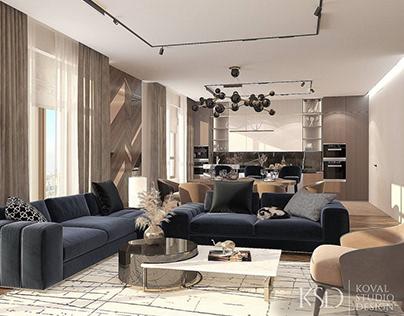 Дизайн интерьера квартиры. Клубный дом Turgenev