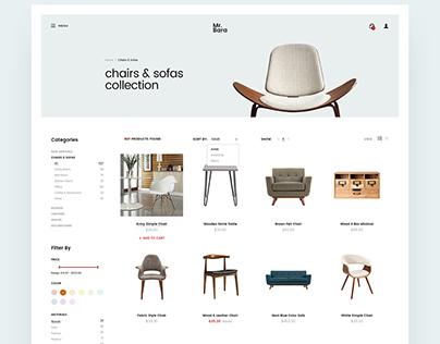 MR.Bara Furniture Store Ecommerce- Website UI/Ux Design