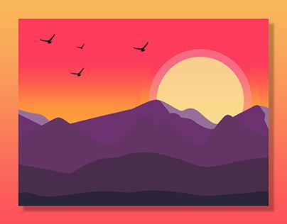 landscape scenery illustration