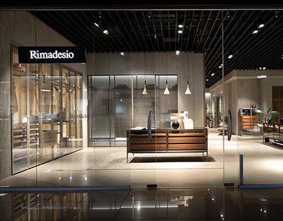Production of interior video of Rimadesio showroom