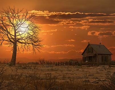 Sunset Wester 3d environment