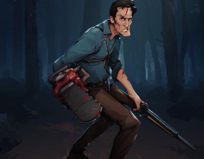 Evil Dead - Ash (Character Paint up process)