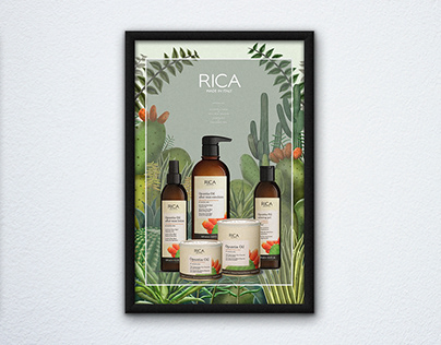 RICA|仙人掌油系列形象設計 Opuntia Oil Visual Design