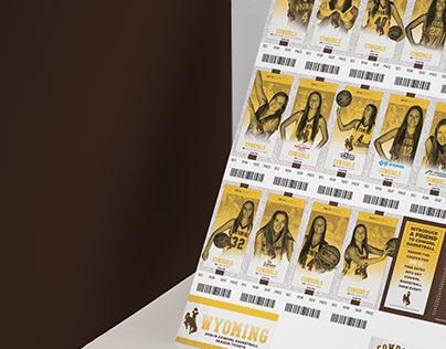 2018-19 Wyoming WBB Season Tickets, Poster, & Graphics