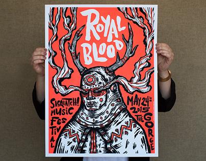 Royal Blood Gigposter