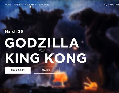Interface Web - Godzilla VS King Kong