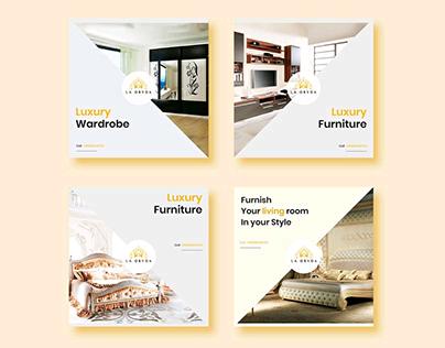 Luxury Furniture Insta+FB ads