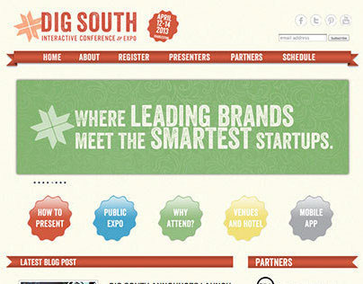 Dig South Interactive Conference and Expo website