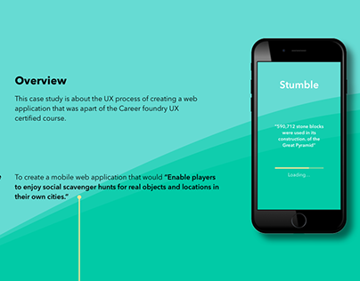 Ux Process of Stumble Web App