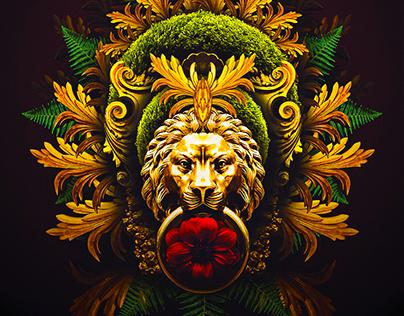Digital Collage - Gouden Leeuw