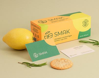 SMAK biscuit branding