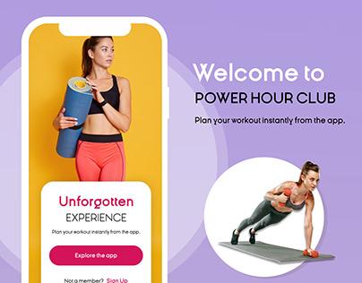 Unforgotten Experience Fitness App Concept