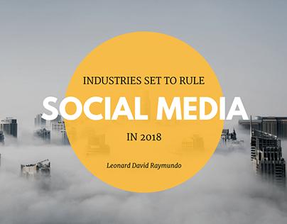 Industries Set to Rule Social Media in 2018
