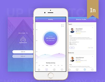 UpDirrector mobile app & Landing Page