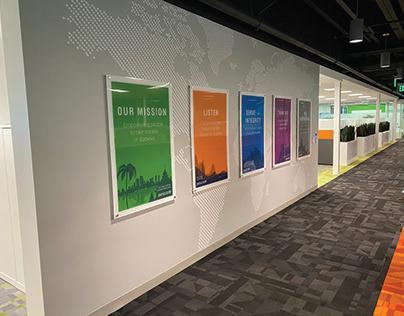 environmental design - new office branding