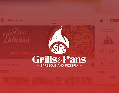 Grills & Pans - Website Development