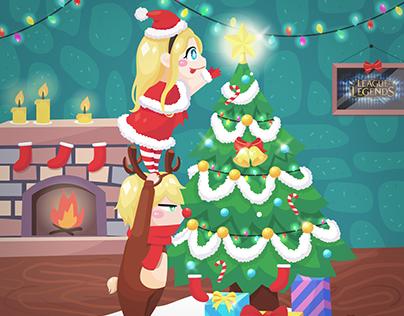 Christmas Ezreal x Lux