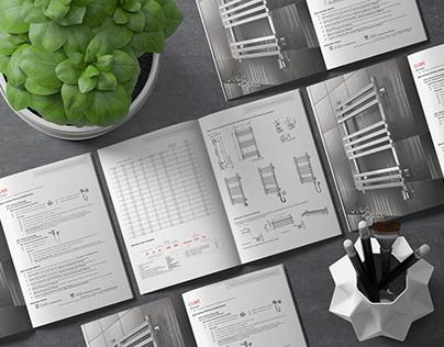 Дизайн каталого и отрисовка чертежей.