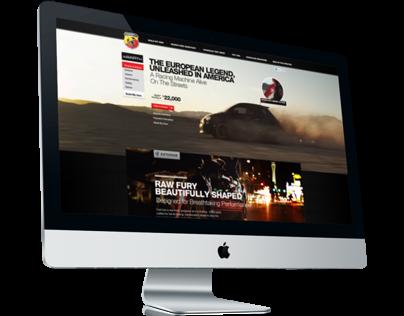 Fiat 500 Abarth Website Design