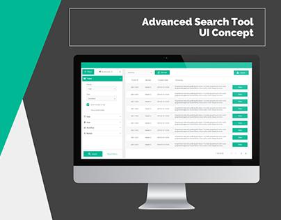 Advanced Search Tool UI Concept