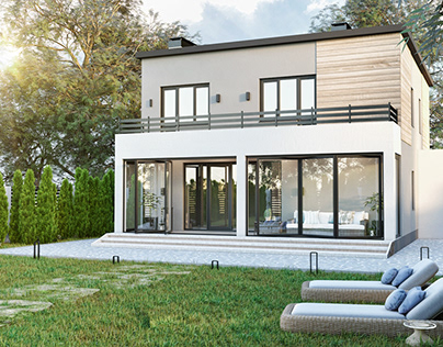 Modern energy efficient mansion house by AIR Studio