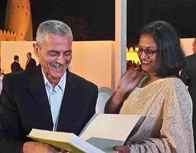 Jihad Awad with Marina Tabassum