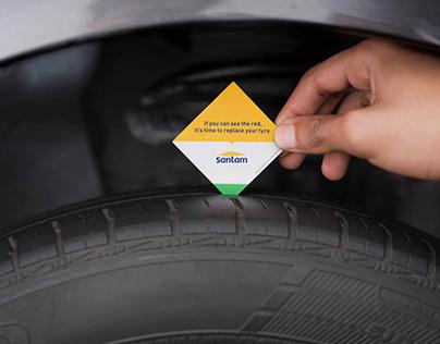 Santam Tyre Tread Print Advert