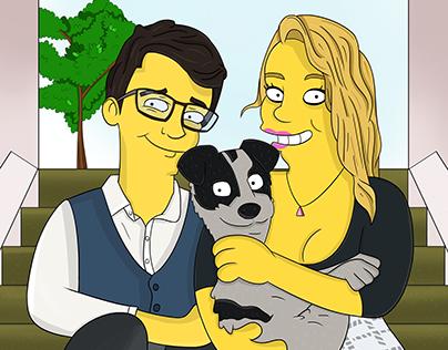 Simpson-ized Couple