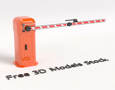 Car Park Barrier Gate Free 3D Model