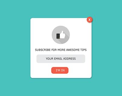 daily UI - 016 pop up/overlay