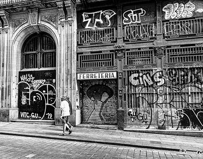 Barcelona monochrome street