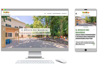 Progettazione sito web Il Bosco Dei Bambini
