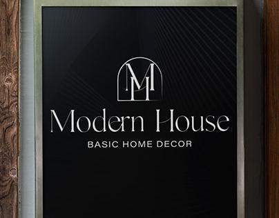 Modern house | LOGO DESIGN for home decor store