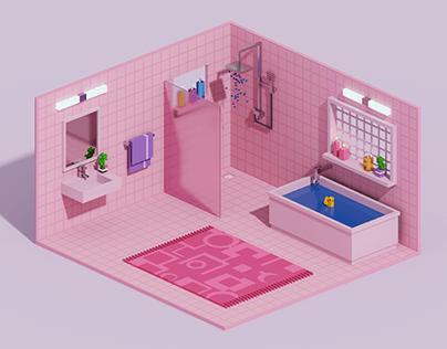 Voxel Bathroom