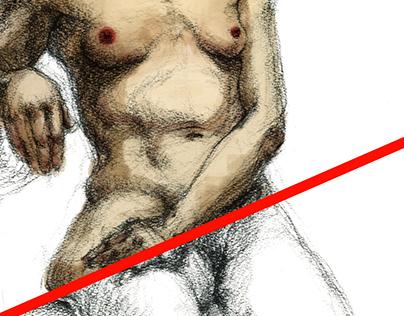 Nude Charcoal 50x65 / digital color