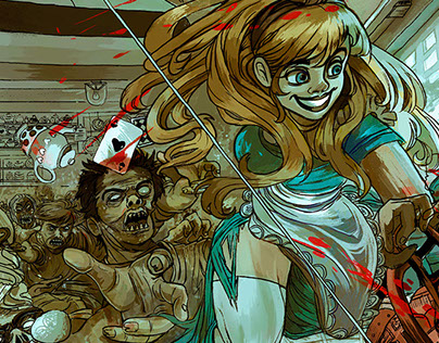 Alicia in Zombieland (part II, Comic style)